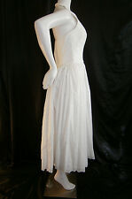 FANCY NY VTG INSPIRED WHITE TEA LENGTH 6 WEDDING GOWN DRESS EYELET LACE