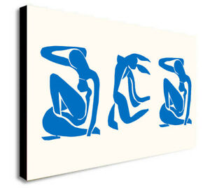 Matisse - Blue Nudes - Canvas Wall Art Framed Print - Various Sizes