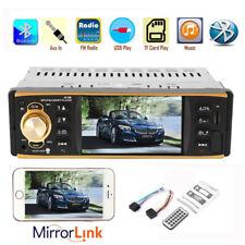4.1''HD 1 Din Car Radio Audio Stereo USB AUX FM Bluetooth Steering Wheel Control