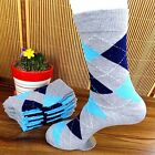 1Pairs Mens Socks Lot Classic Diamond Cotton Casual Dress Socks 21*24cm CH93