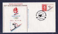 enveloppe 1er jour  Jeux Olympiques  ski alpin   73  Val d' Isère      1991