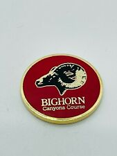Bighorn Golf Club Palm Desert CA Members Metal Red Ball Marker Coin Rare Mint