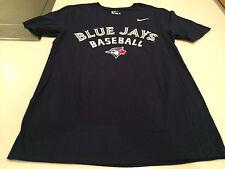 Toronto Blue Jays MLB Baseball Shirt Sleeves Practice T Shirt Men's Navy XL