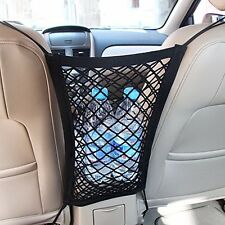 MICTUNING Car Mesh Organizer Car Pet  Dog Barrier Cargo Net Hook Pouch Holder
