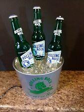 Rolling Rock Beer Sign Bubbler Bottles Glorifier Light Water Barware Bar Bucket