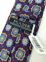 NEW Jos A Bank Executive Collection Purple Medallion Tie 58x3.25 msrp $59.50