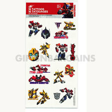 Transformers Tattoos Birthday Party Favours x 1 sheet  of 16 Tattoos Hasbro