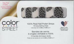 Color Street Nail Strips Bandana Republic Paisley 100% Nail Polish-USA Made!