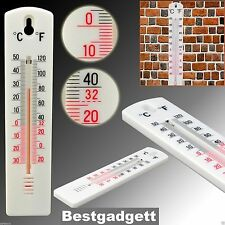 Home Office Greenhouse Garden Indoor Outdoor Wall Hung Temperature Thermometer