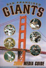 2006 San Francisco Giants Media Guide