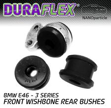 E46 Front Wishbone Rear Bushes in Black Duraflex NANO Polyurethane