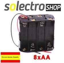 Portapilas  8x AA Porta 8 Pilas 12V  Battery holder R6 LR06 4+4 PP09