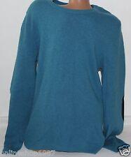 H & M Premium Pullover Uomo Lavorazione a Maglia Pullover 70% lana Petrolio taglia L