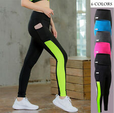 Women Pocket Joggers Pants Ladies Fitness Running Gym Exercise Sports Trousers