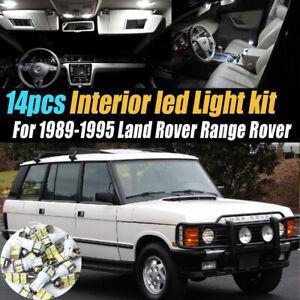 14Pc Super White Car Interior LED Light Kit for 1989-1995 Land Rover Range Rover