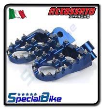 Husaberg 390 FE 2010 2012 Pedane Accossato Blu ergal maggiorate Offroad