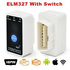 Super Mini ELM327 WiFi OBD2 Auto Diagnostics Scanner+Power Switch iOS Android