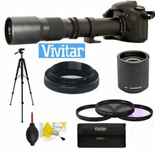 HDK4 VIVITAR TELESCOPE ZOOM LENS 500-1000MM FOR CANON EOS REBEL T3 T3I T5 T5I T2