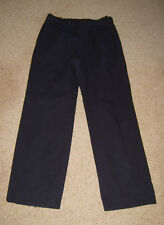 "Mens Navy Work Wear Trousers 34"" Policeman Uniform American Cop Fancy Dress Used"