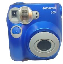 Polaroid 300 Instant Film Camera Blue Tested AA Batteries Film Not Included