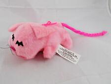 "Russ Pink Cat Pink Plush 6"" Long Sand 1974 USA Vintage"
