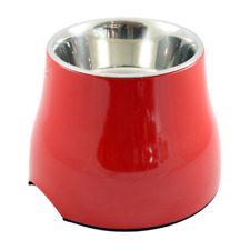 Dogit 2 in 1 Elevated Dog Dish 900ml Raised Feeding Bowl/Water Bowl - Large, Red