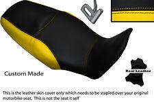 BLACK & YELLOW CUSTOM FITS HONDA XL 1000 V VARADERO 08-13 DUAL SEAT COVER