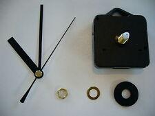 CLOCK MOVEMENT QUARTZ . LONG SPINDLE. 80mm BLACK HANDS