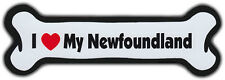 Dog Bone Magnet: I Love My Newfoundland   For Cars, Refrigerators, More
