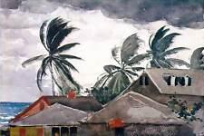 Winslow Homer Hurricane Bahamas Canvas Print