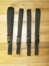 4 ADJUSTABLE WEBBING STRAPS TIES MAINSAILS /TRAILERS/SPORT/CAMPING EQPT