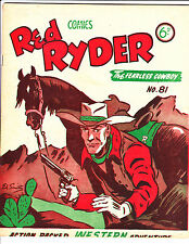 "Red Ryder No 81 1950's -Australian-"" Red Ryder Has A Theory ! """
