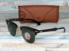 RAY BAN RB3507 136 N5 Clubmaster Al Black Green Polarized 51mm Unisex Sunglasses
