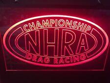 Nhra Drag Racing Custom Led Light Sign Game Room , Bar , garage