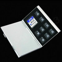 Metal Aluminum Micro TF SD MMC Memory Card Storage Holder New Case Protecte T1B5