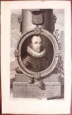 Eau-forte, Portrait de Guillaume Premier, Gerhard Valk, d'après Van der Werff
