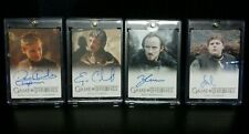 Game Of Thrones Season 6 - 4 Autograph Cards Tommen Yezzan Eddison Young Hodor