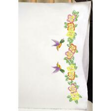 TOBIN Premium Pillow Cases 2pk for Stamped Embroidery HUMMINGBIRDS