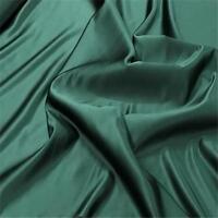 BOTTLE GREEN Duchess Satin Silky Polyester Bridal Fabric material 150cm
