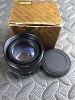Computar High Resolution TV Lens 50mm  1:1.8 W/Lens Caps