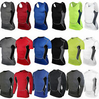 Mens Compression Shirts Under Base Layer Sports Gear Tank Top Running Tracksuit