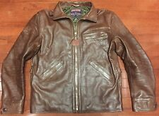 Eastman Leather Clothing Havana Brown Horsehide Californian Jacket  Size 46 L