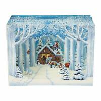 Winter Forest Cottage Pop Up Christmas Card