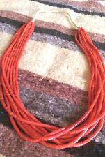 Santo Domingo 8 Strand Red Mediterranean Tube Coral Collectible Necklace USA