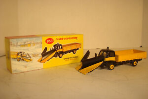 VINTAGE DINKY SUPERTOYS #958 GUY WARRIOR PICKUP DELIVERY SNOW PLOUGH TRUCK & BOX