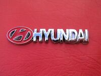 HYUNDAI BADGE Chrome Plastic Dash Emblem * NEW * 80mm long