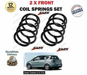 FOR SEAT TOLEDO MPV 5P2 2.0 TDI 1968cc 2004-2009 NEW 2X FRONT COIL SPRINGS SET