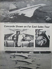 9/72 MINI ARTICLE 3 PHOTOS CONCORDE 002 001 01 FAR EAST SALES TOUR SAUDI ARABIA