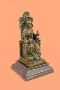Bronze Original Valli Jesus Christ on Throne of Heaven Hot Cast Sculpture Decor