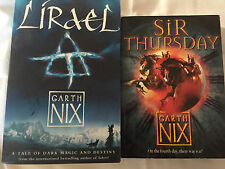 2 Books Lirael AND Sir Thursday (The Keys to the Kingdom, Book 4) By Garth Nix